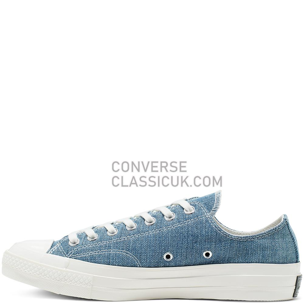 Converse Renew Denim Chuck 70 Low Top Mens Womens Unisex 165649C Medium/Denim/Egret/Egret Shoes