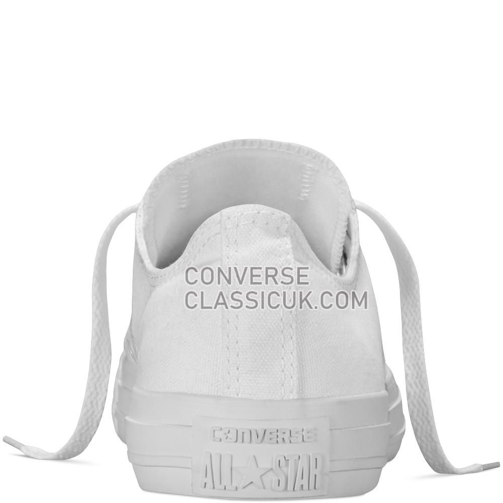 Converse Chuck Taylor All Star Mono Canvas Mens Womens Unisex 1U647 White/Monochrome Shoes