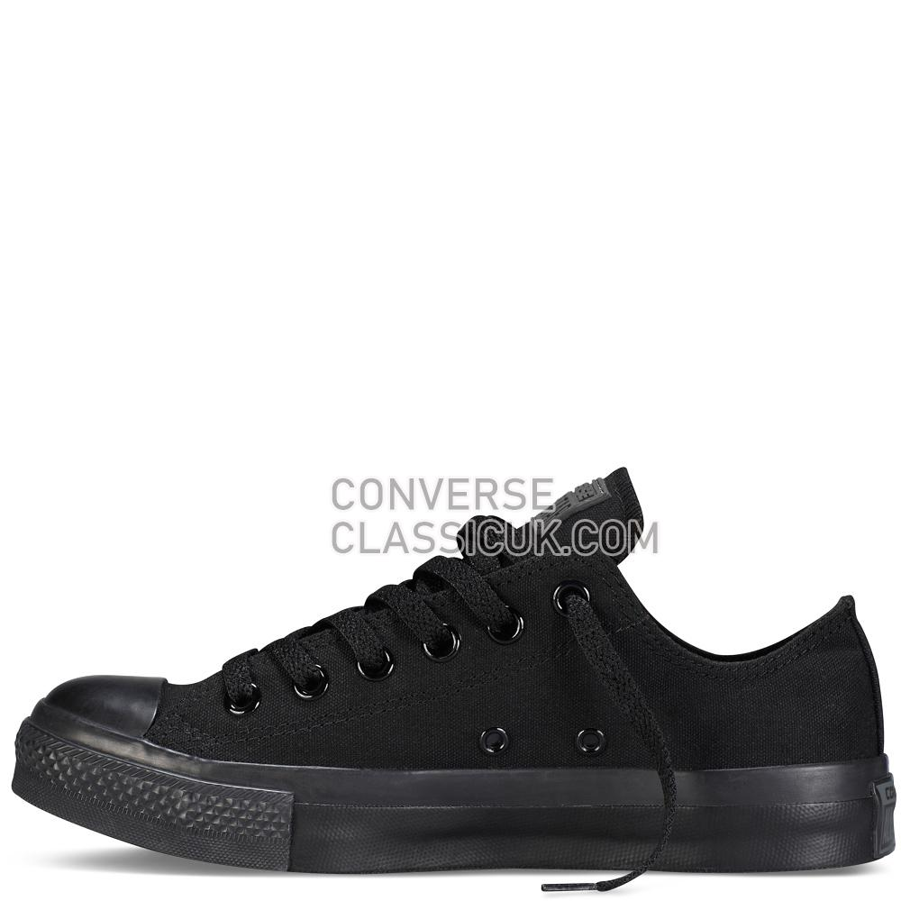 Converse Chuck Taylor All Star Mono Canvas Mens Womens Unisex M5039C Black/Monochrome Shoes