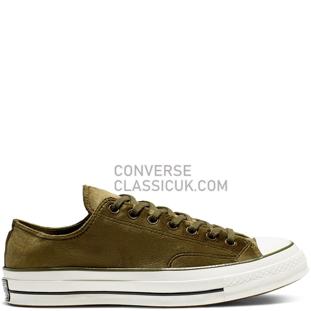 Converse Chuck 70 Velvet Low Top Mens Womens Unisex 165178C Surplus/Olive/Egret/Black Shoes