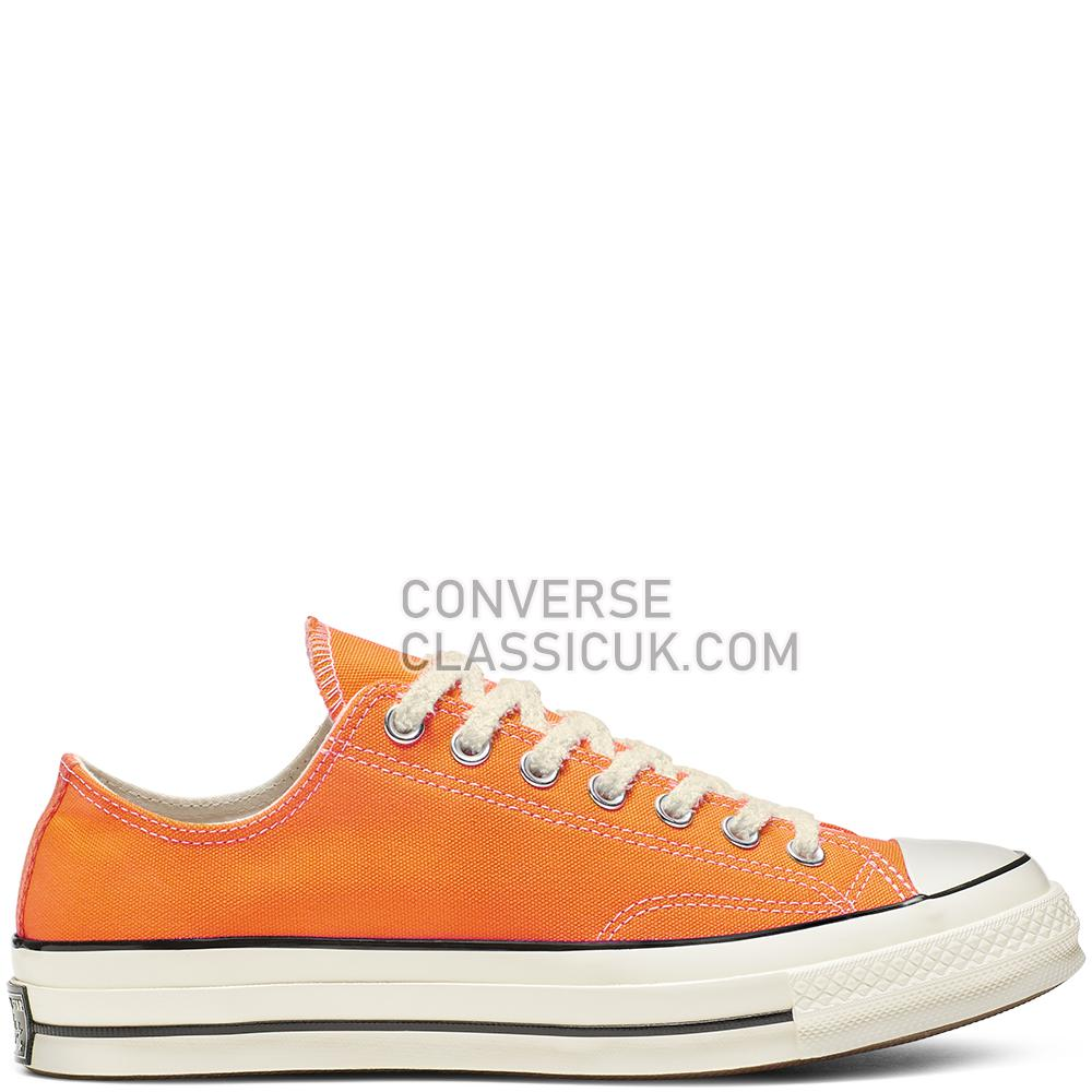 Converse Chuck 70 Vintage Canvas Low-Top Mens Womens Unisex 164928C Orange/Rind/Egret/Black Shoes