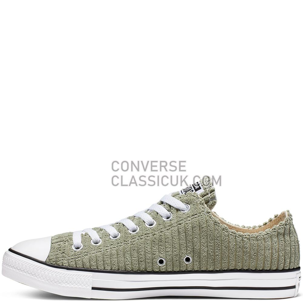 Converse Chuck Taylor All Star Wide Wale Cord Low Top Mens Womens Unisex 165454C Jade/Stone/White/Black Shoes