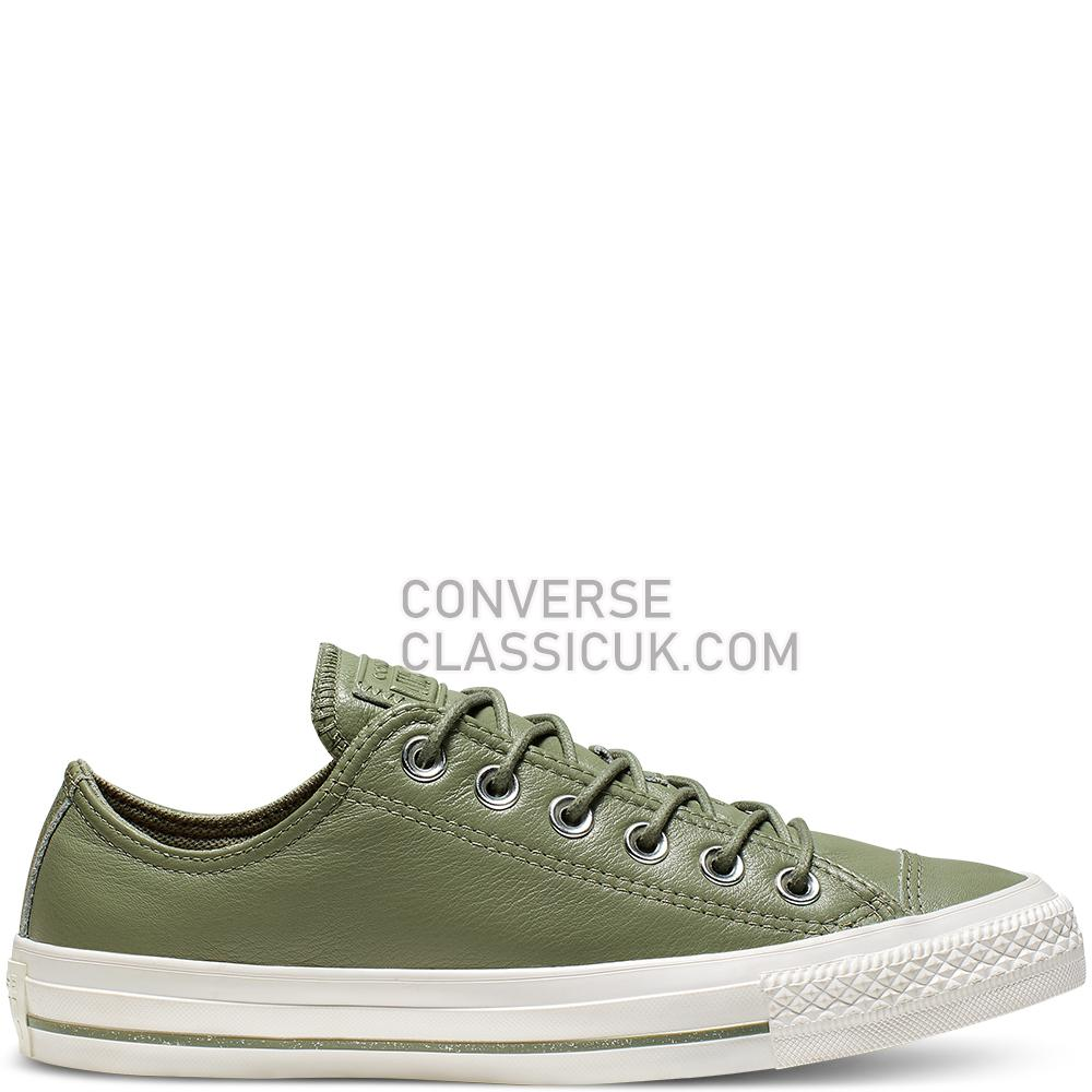 Converse Chuck Taylor All Star Leather Low Top Mens Womens Unisex 165420C Jade/Stone/Vintage/White Shoes