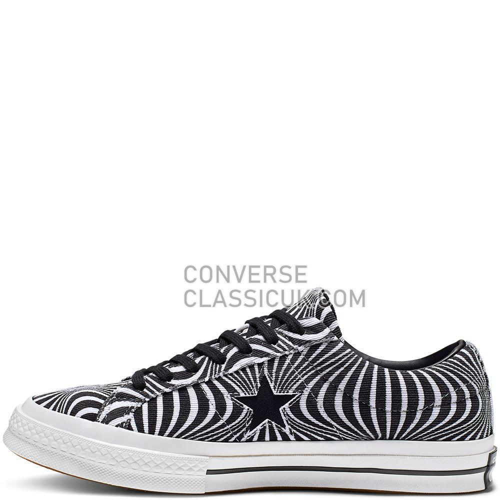 Converse One Star Moonshot Low Top Mens Womens Unisex 165126C Black/White/White Shoes