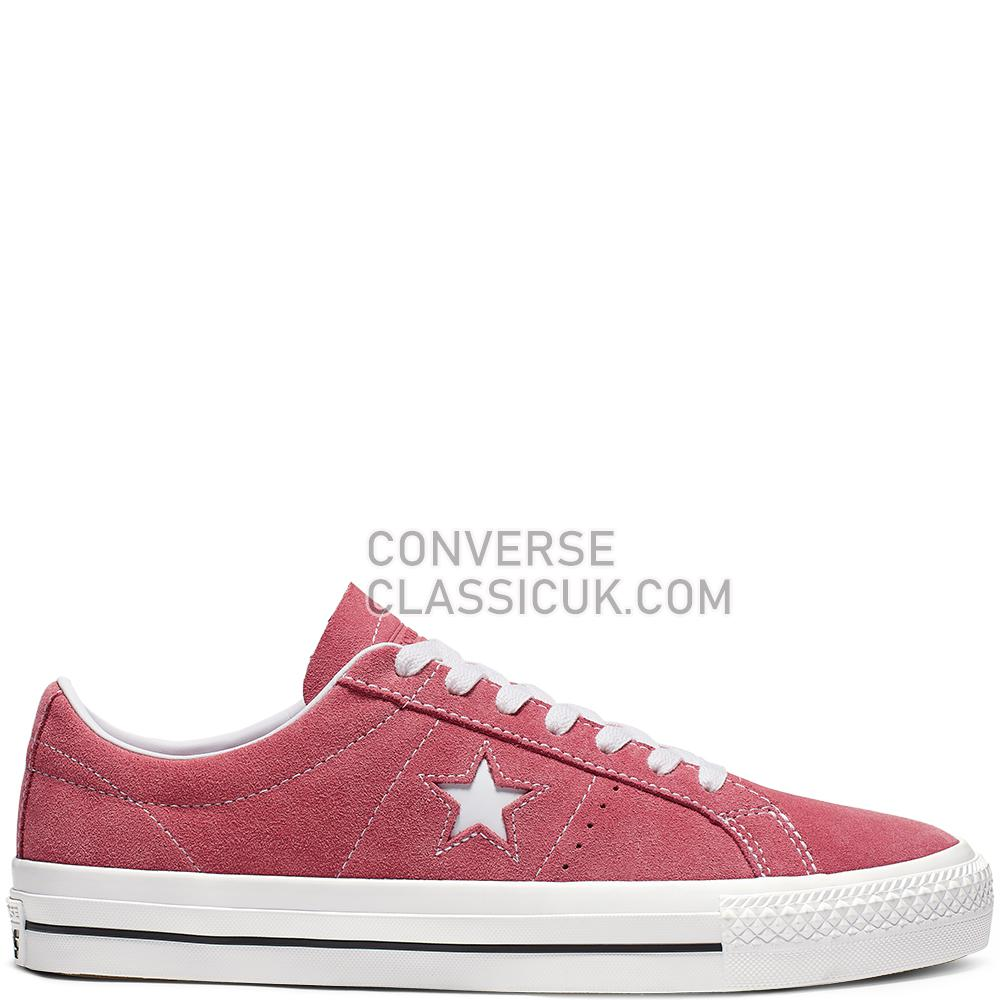 Converse One Star Pro Classic Suede Low Top Mens Womens Unisex 165261C Light/Redwood/White/White Shoes