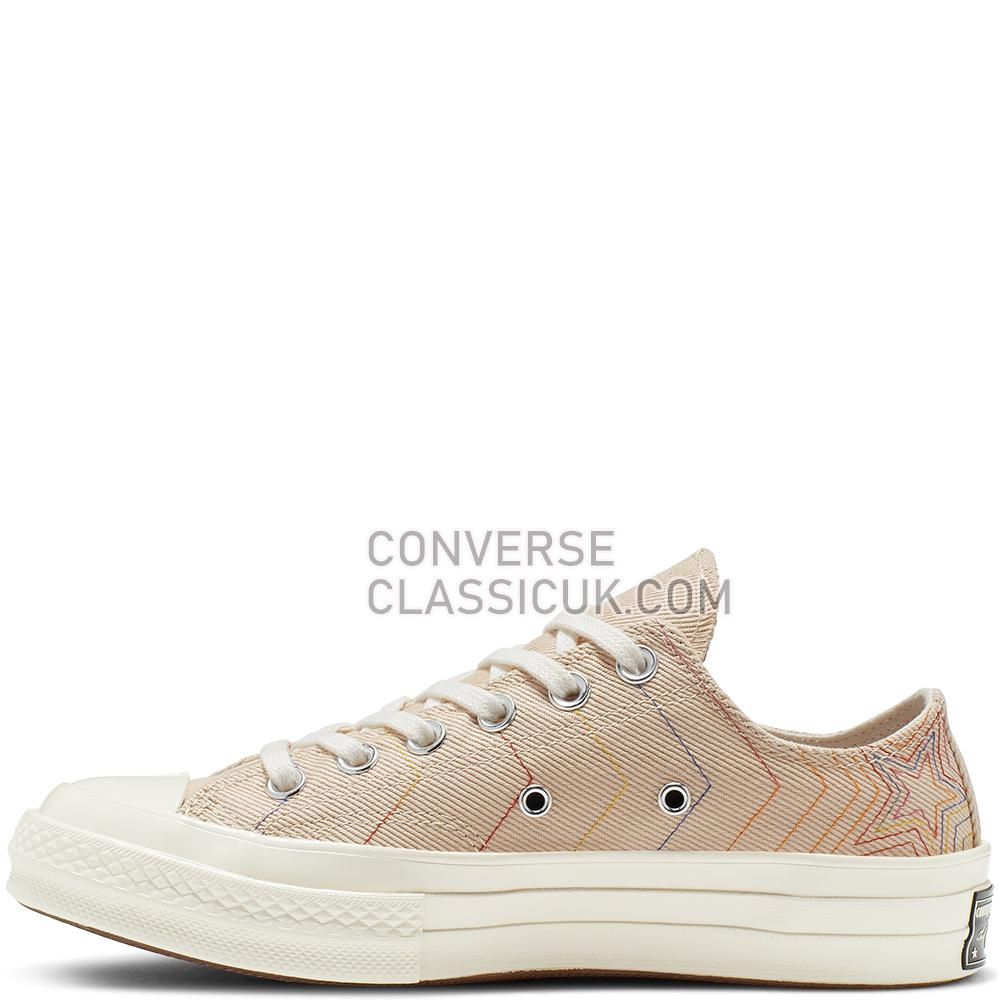 Converse Chuck 70 Exploding Star Low-Top Mens Womens Unisex 164966C Light/Bisque//Pale/Putty/Egret Shoes