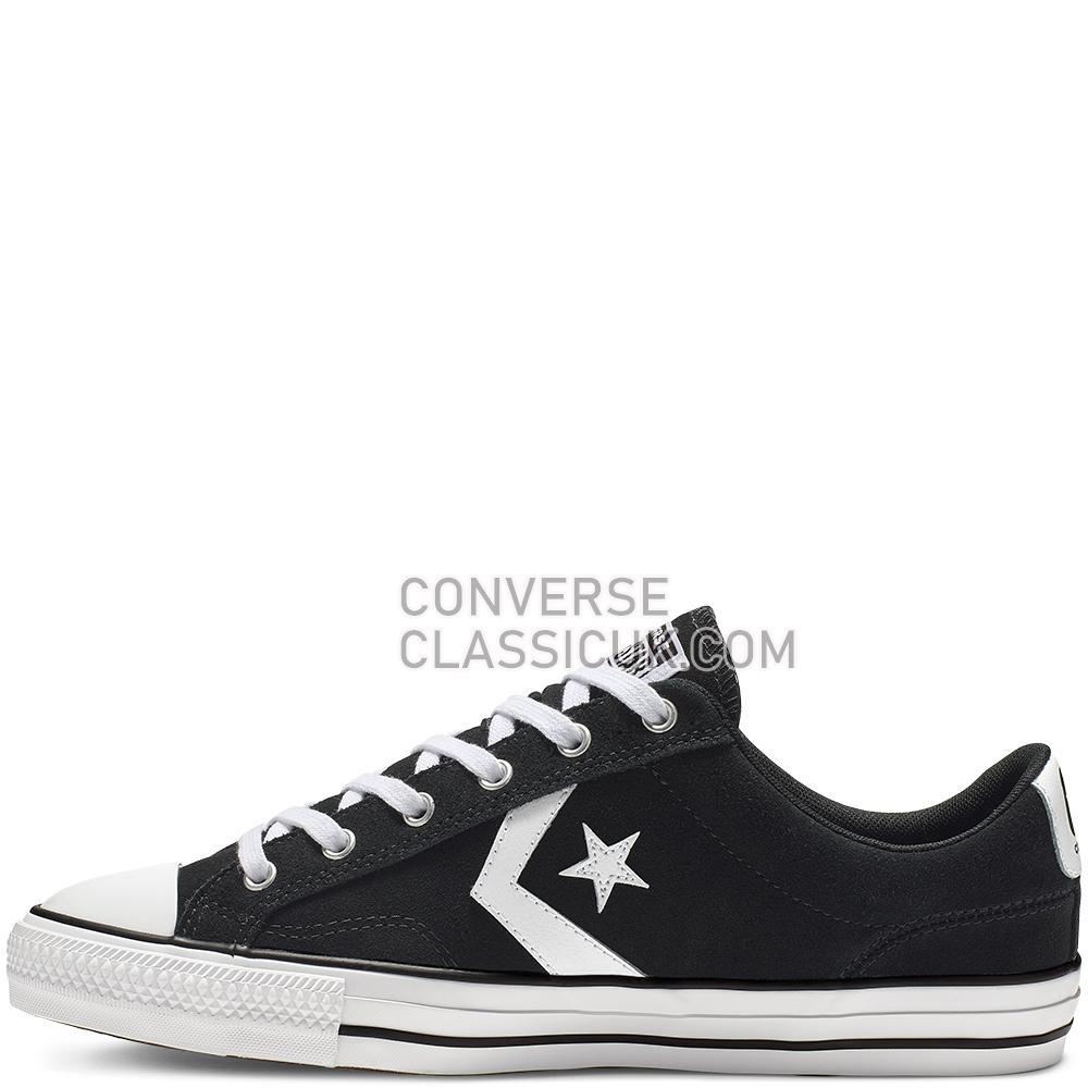 Converse Star Player Low Top Mens 165466C Black/Black/White Shoes