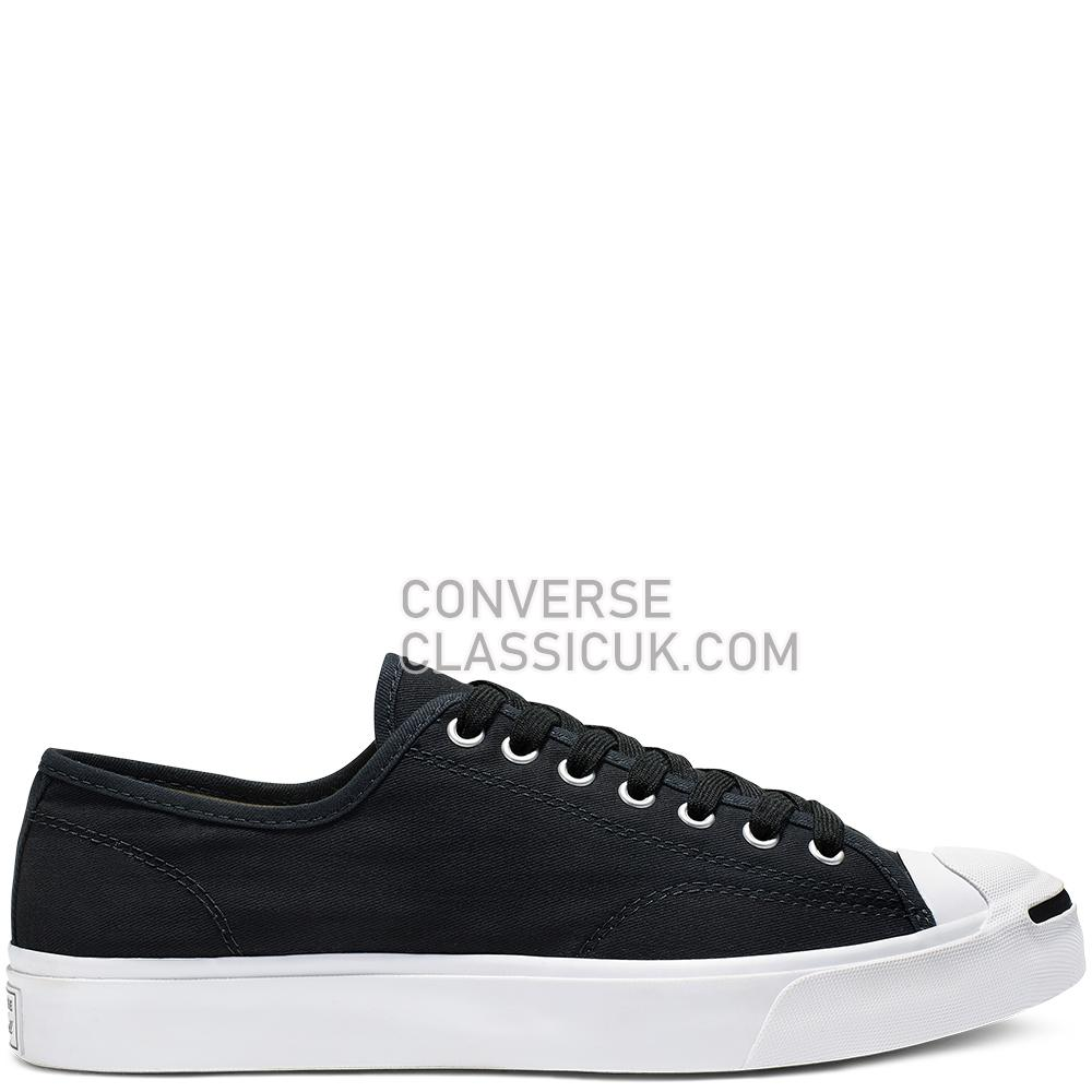 Converse Jack Purcell First In Class Low Top Mens 164056C Black/White/Black Shoes