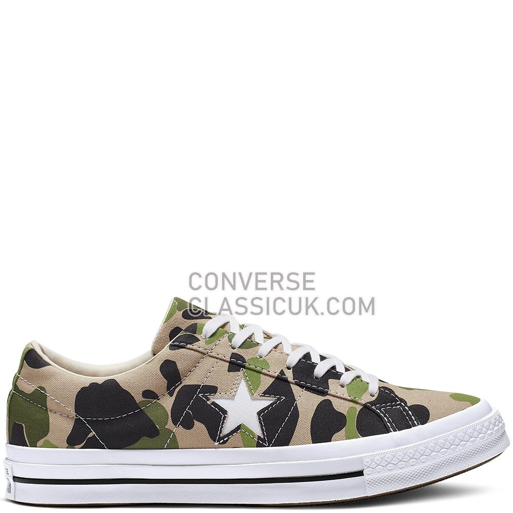 Converse One Star Archive Prints Low-Top Mens 165027C Candied/Ginger/Piquant/Green Shoes