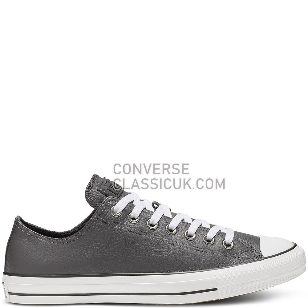 Converse Chuck Taylor All Star Leather Low Top Mens 165193C Carbon/Grey/White/Black Shoes