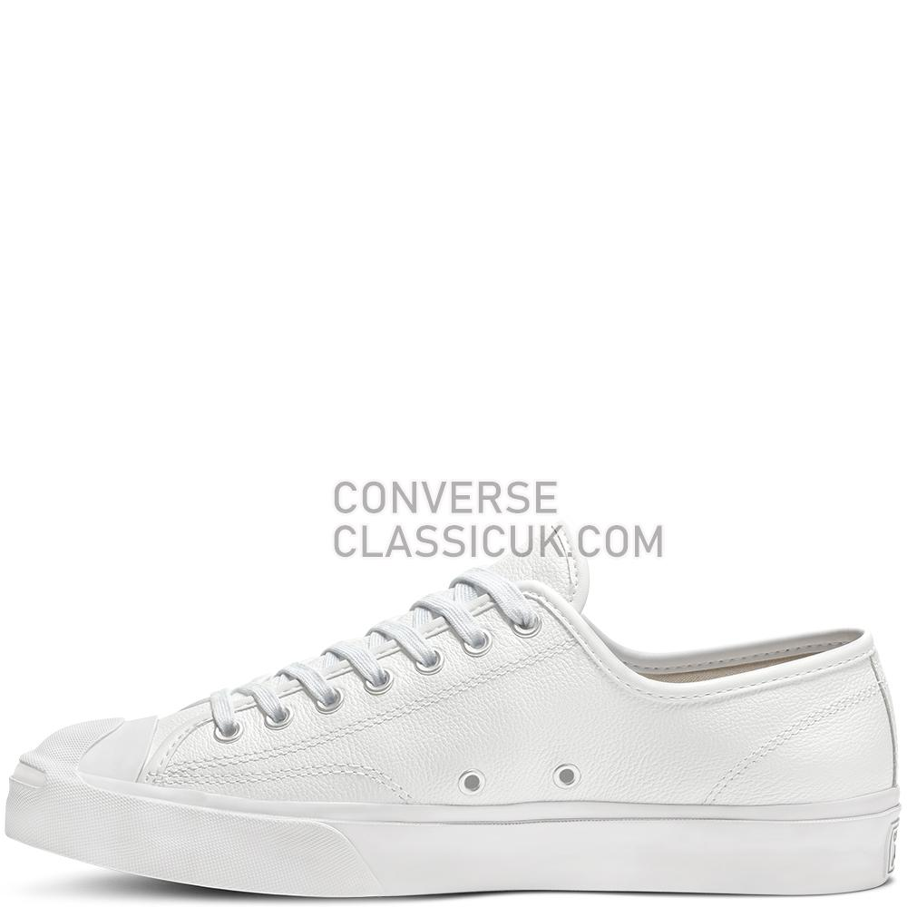 Converse Jack Purcell Foundational Leather Low Top Mens 164225C White/White/White Shoes