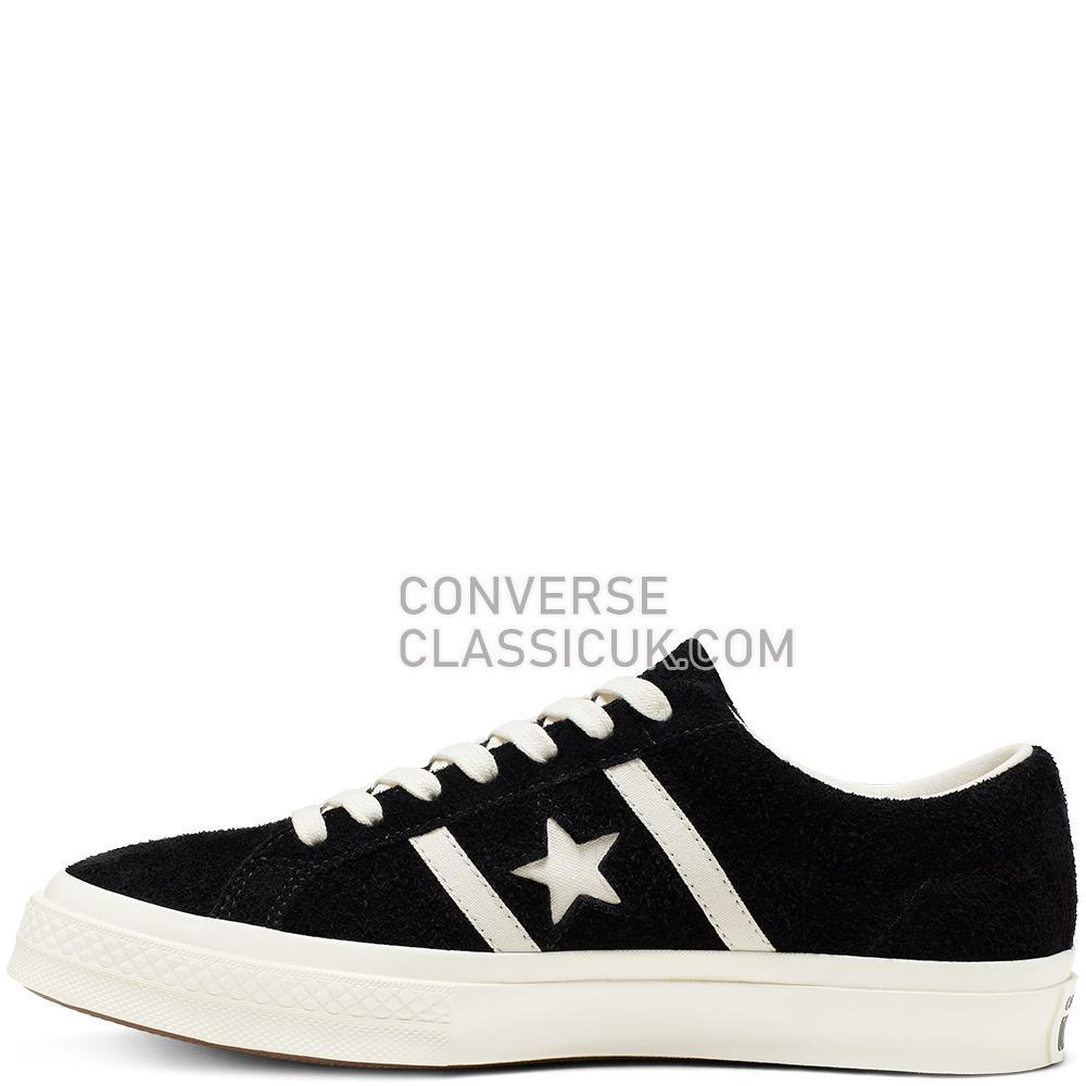 Converse One Star Academy Low Top Mens 164525C Black/Egret/Egret Shoes