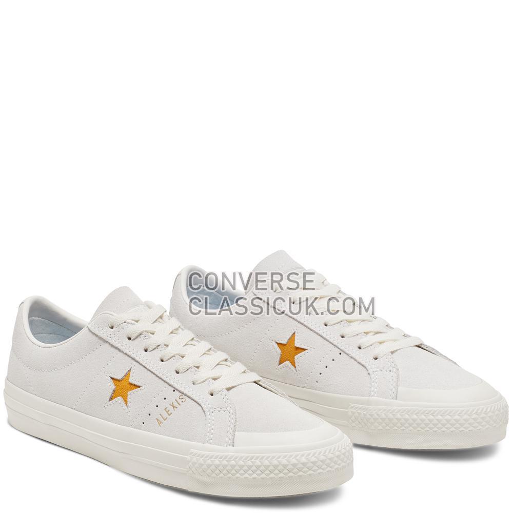 Converse One Star Pro Alexis Sablone Mens 166401C White/Coast/University/Gold Shoes