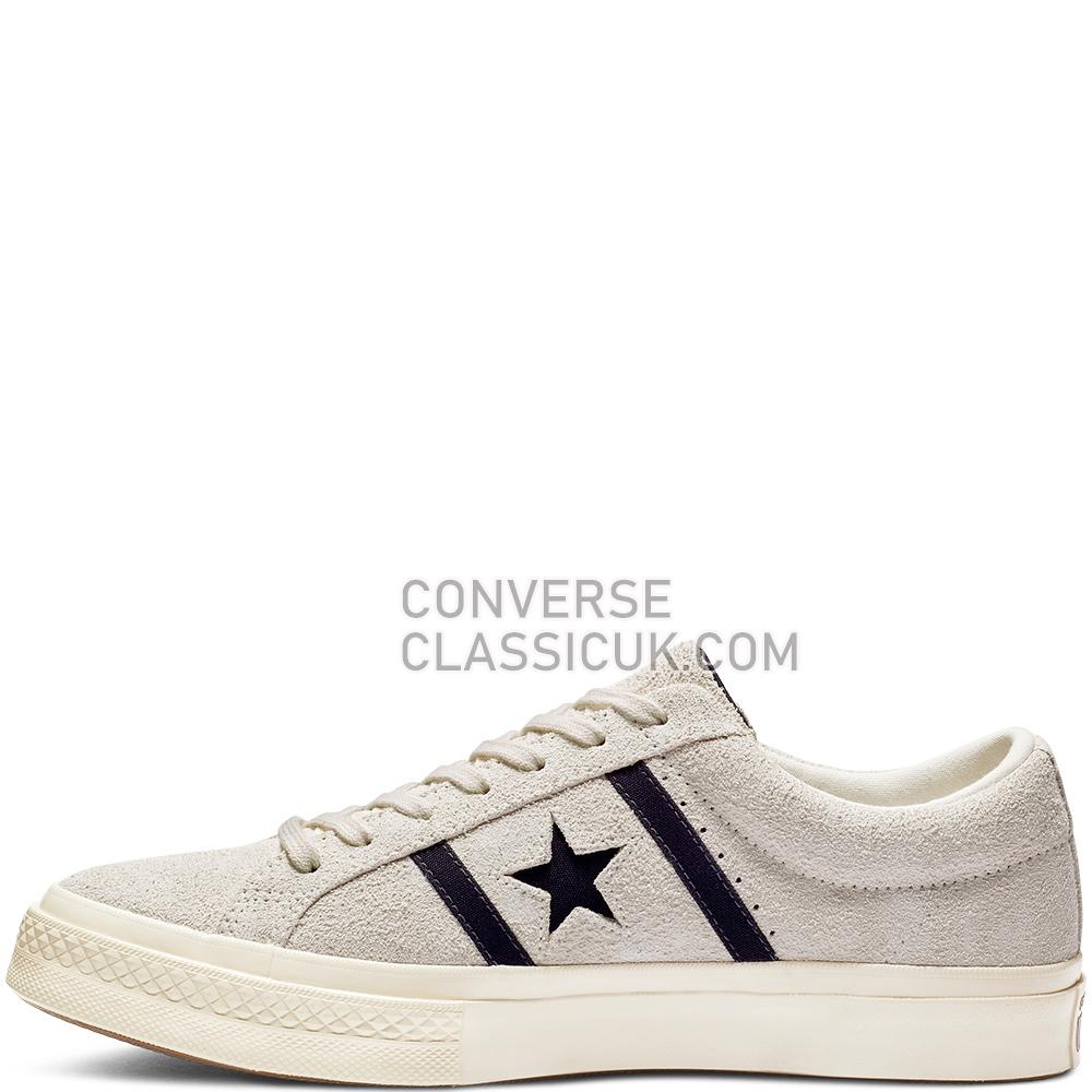 Converse ONE STAR ACADEMY OX Mens Womens Unisex 163269C Egret/Black/Egret Shoes