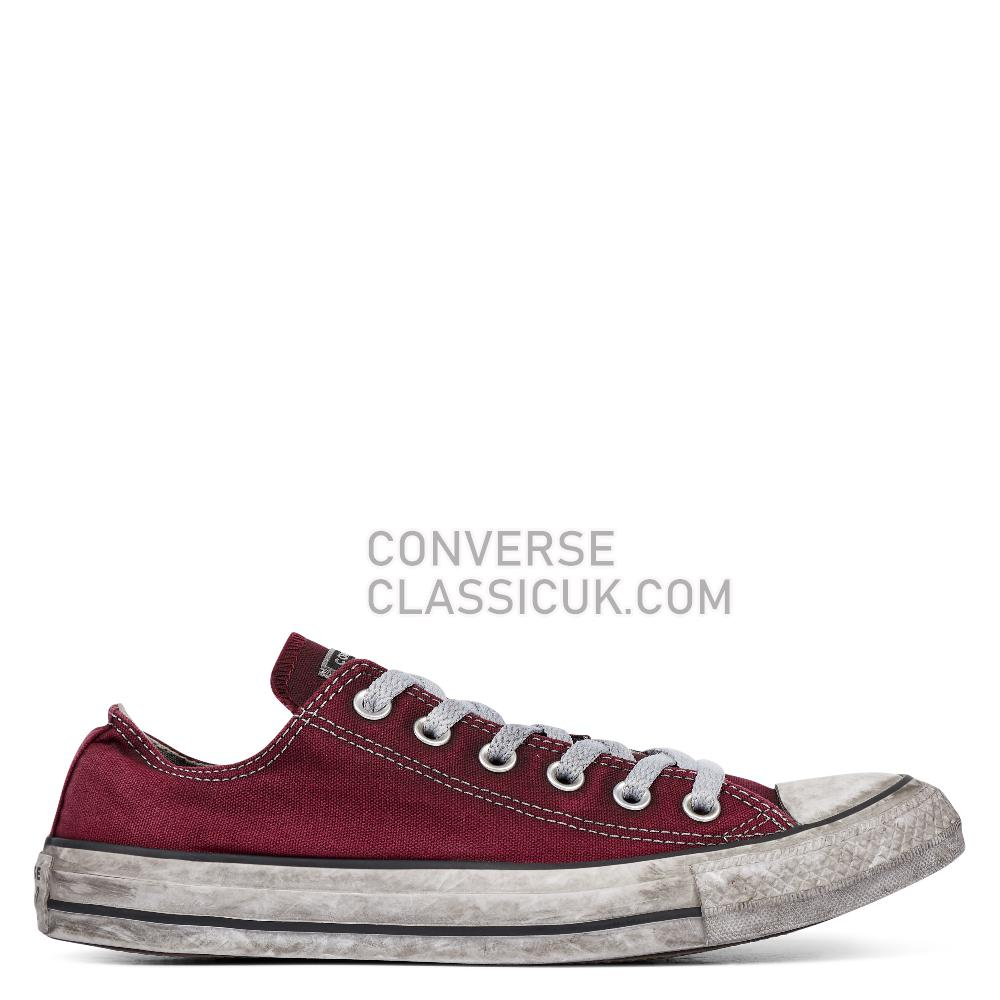 Converse Chuck Taylor All Star Smoke Low Top Mens 160153C Maroon/Black/White Shoes