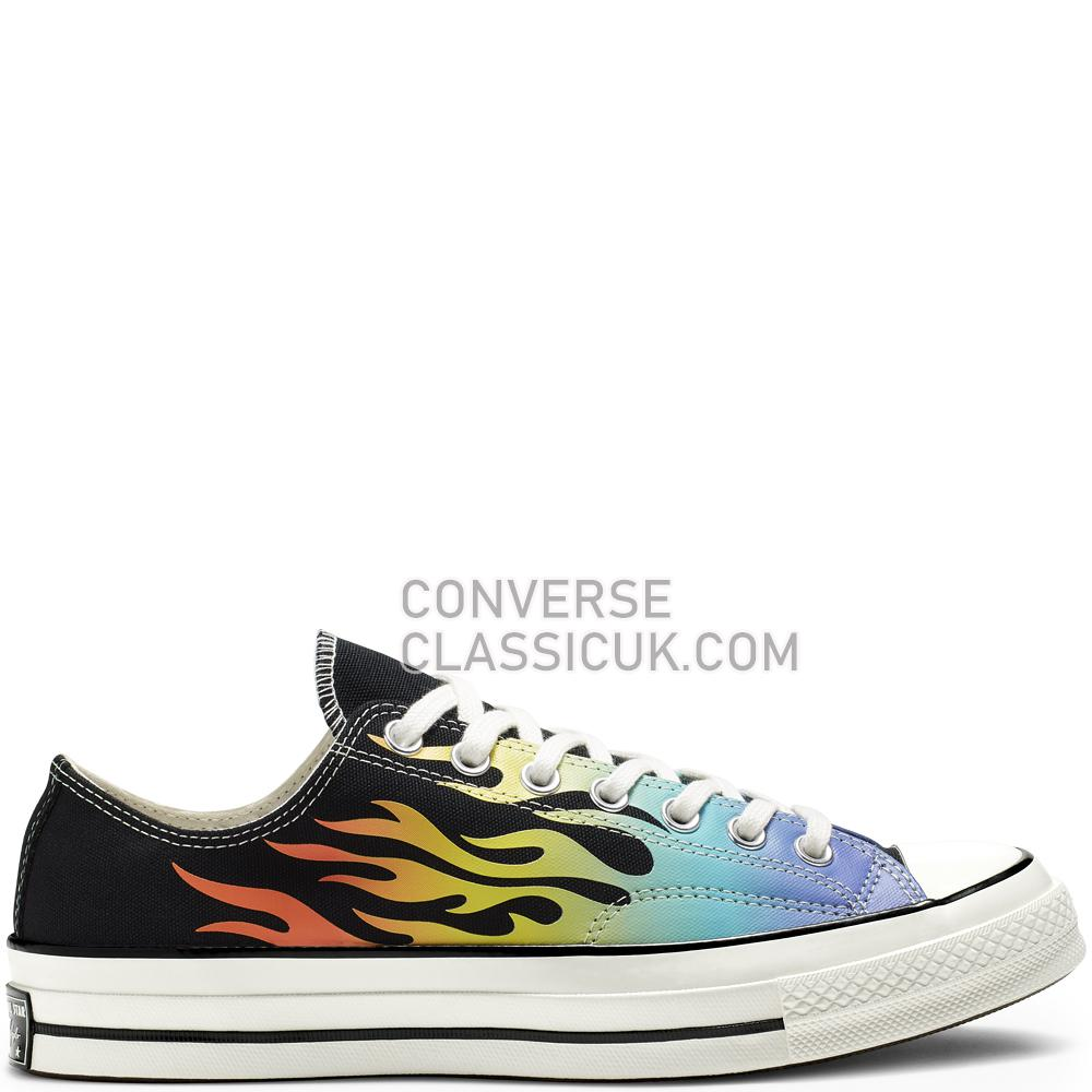 Converse Chuck 70 Archive Print Low-Top Mens 164407C Black/Turf/Orange/Egret Shoes