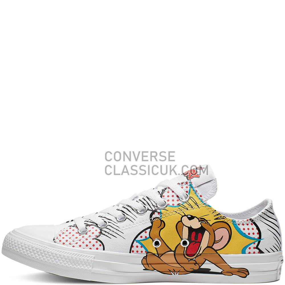 Converse Tom and Jerry Chuck Taylor All Star Low Top Mens 165732C White/Multi/White Shoes