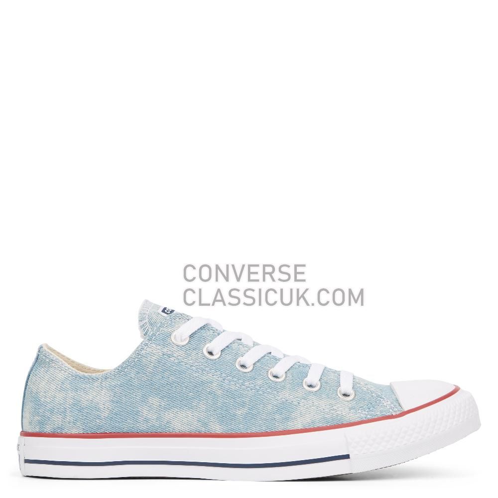 Converse Chuck Taylor All Star Washed Denim Low-Top Mens Womens Unisex 163959C Washed/Denim/White/White Shoes