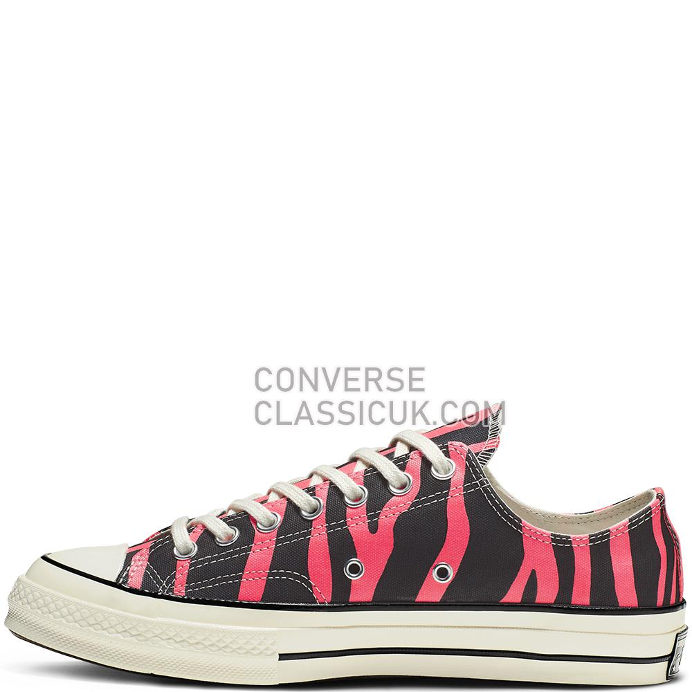 Converse Chuck 70 Washed Canvas Low Top-Pink-All Star-Converse Mens Womens Unisex 164409C Black/Racer/Pink/Egret Shoes