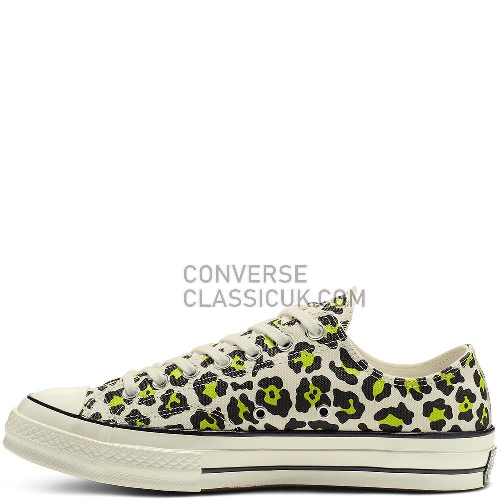 Converse Chuck 70 Archive Print Low-Top Mens Womens Unisex 164410C Egret/Black/Bold/Lime Shoes
