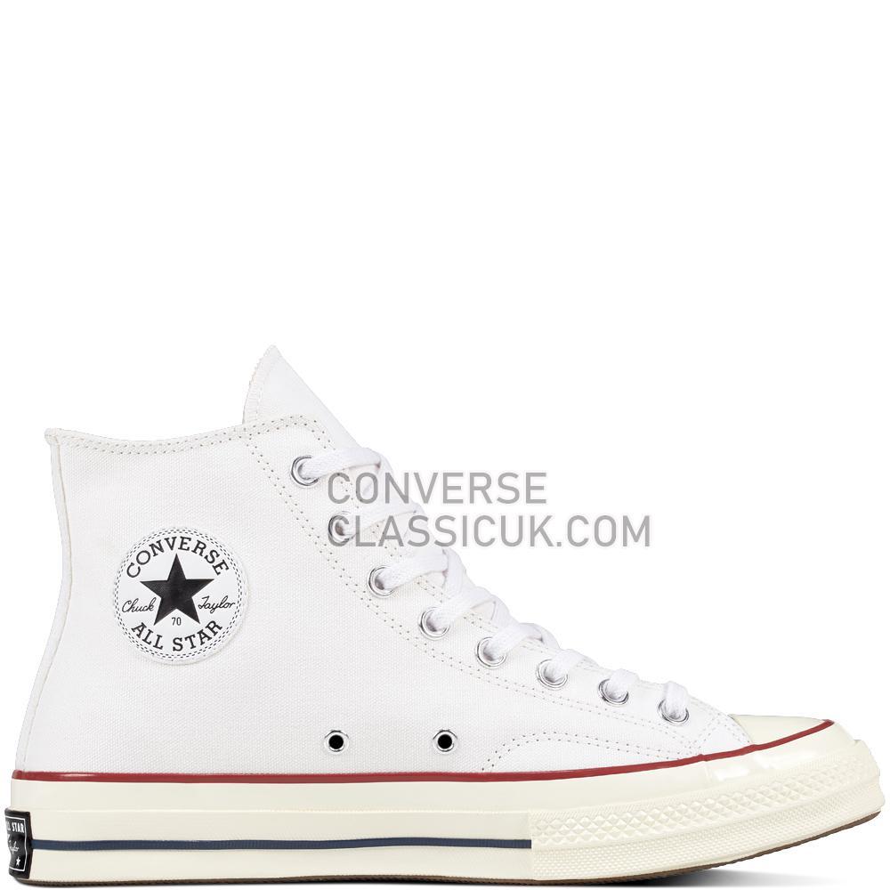 Converse Chuck 70 White Mens Womens Unisex 162056C White/Garnet/Egret Shoes