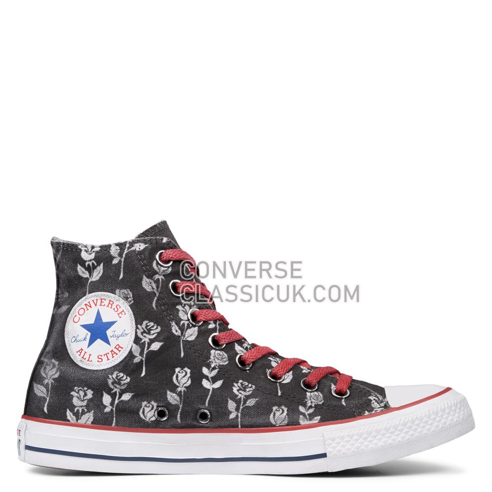 Converse Chuck Taylor All Star Black Flowers High Top Mens Womens Unisex 165778C Optical/White/Black/Flowers Shoes