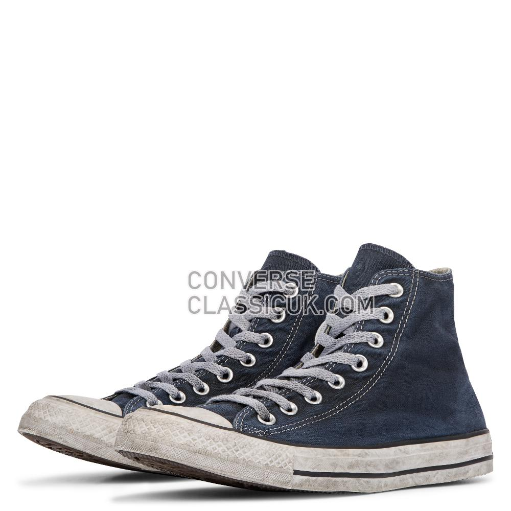 Converse Chuck Taylor All Star Smoke High Top Mens Womens Unisex 156890C Navy/Navy/White Shoes