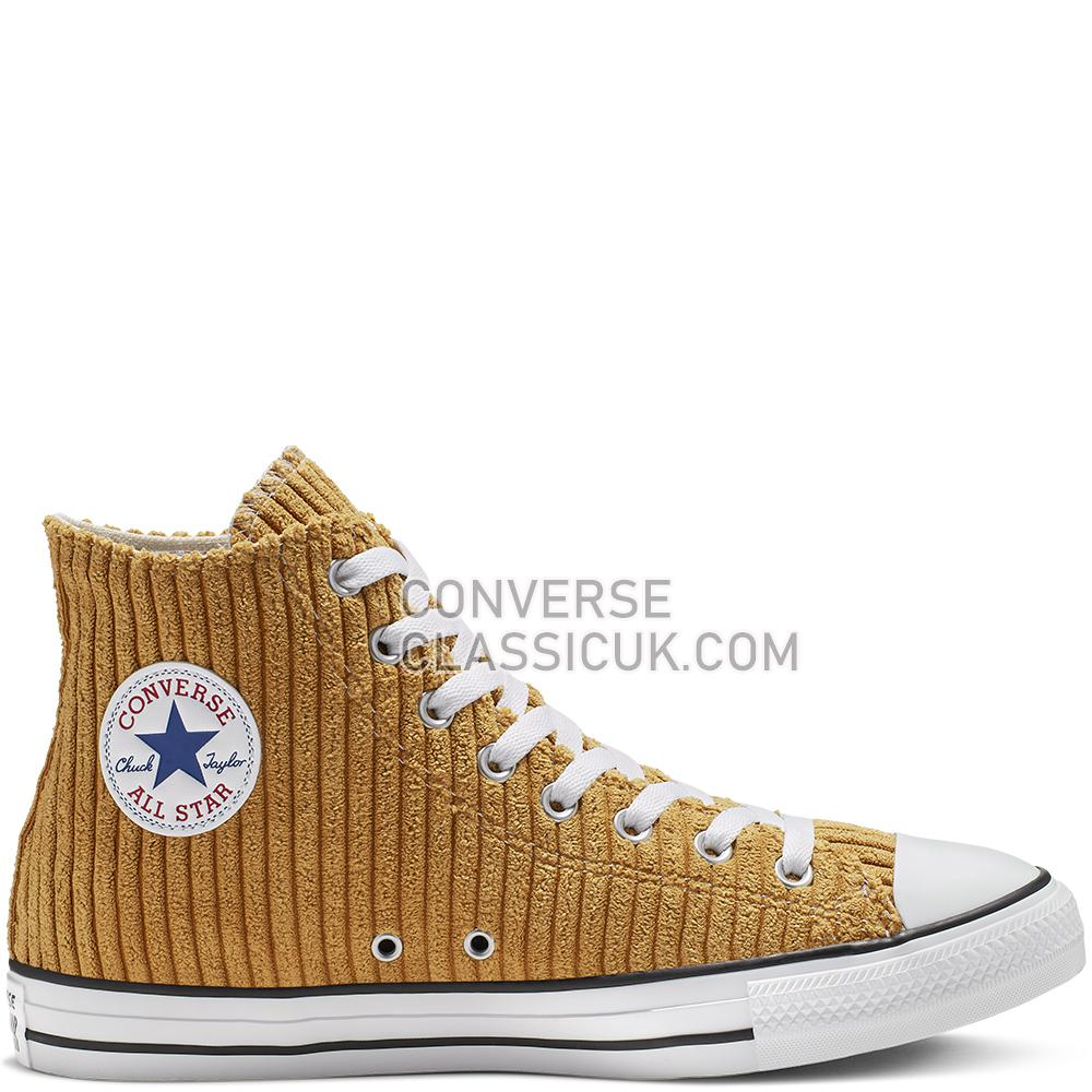 Converse Chuck Taylor All Star Wide Wale Cord High Top Mens Womens Unisex 165147C Wheat/White/Black Shoes