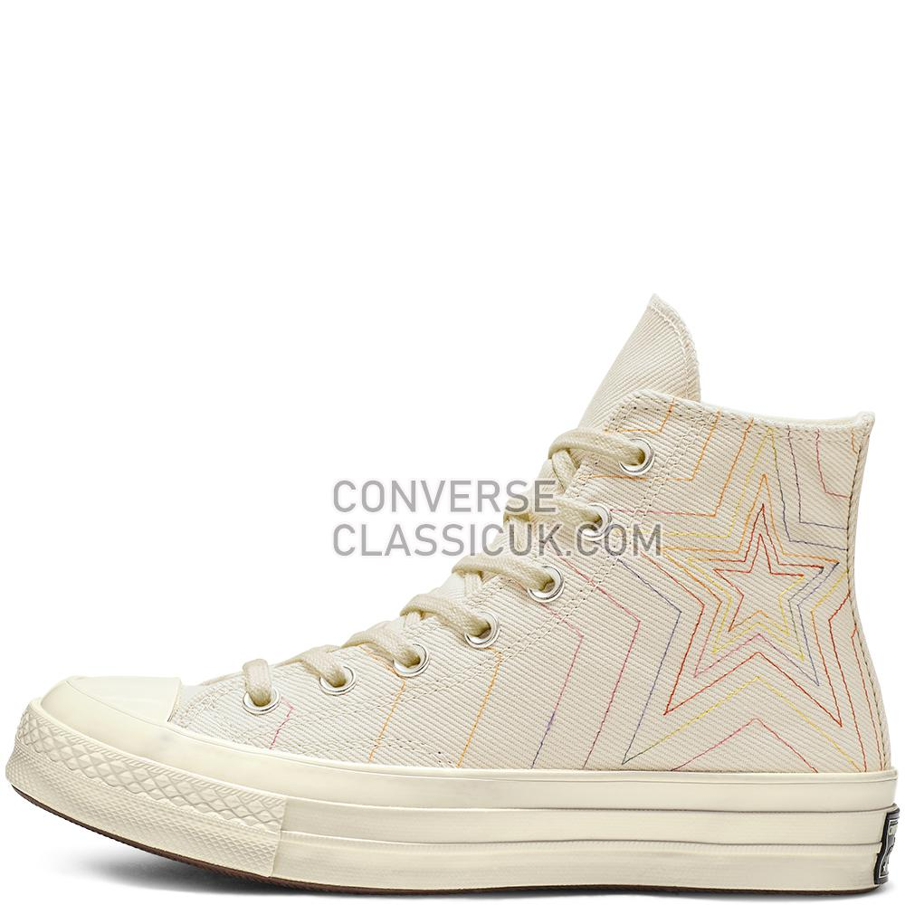 Converse Chuck 70 Exploding Star High-Top Mens Womens Unisex 164965C White/Pale/Putty/Egret Shoes