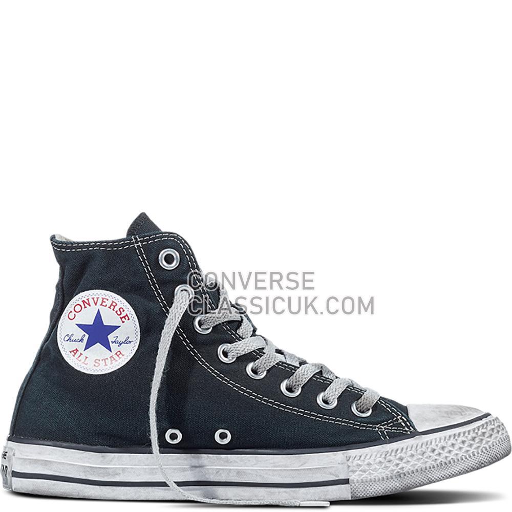 Converse Chuck Taylor All Star Canvas Smoke High Top Mens 156886C Black/Black/White Shoes