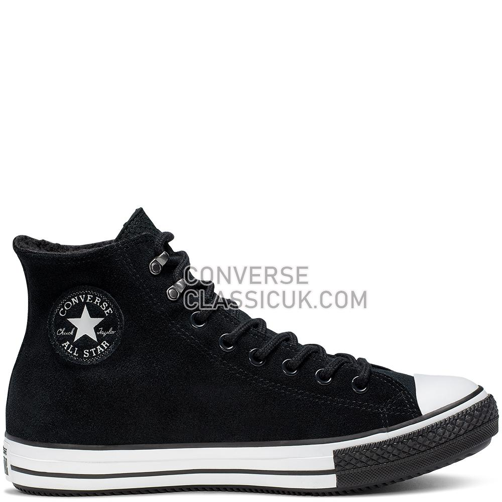 Converse Chuck Taylor All Star Winter Waterproof High Top Mens 165451C Black/White/Black Shoes