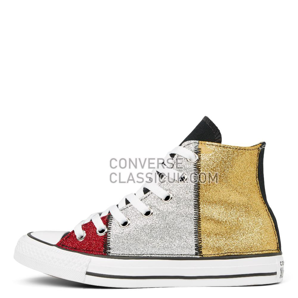 Converse Chuck Taylor All Star Multicolour Glitter High Top Mens 165776C Black/Multicolor/Glitter Shoes