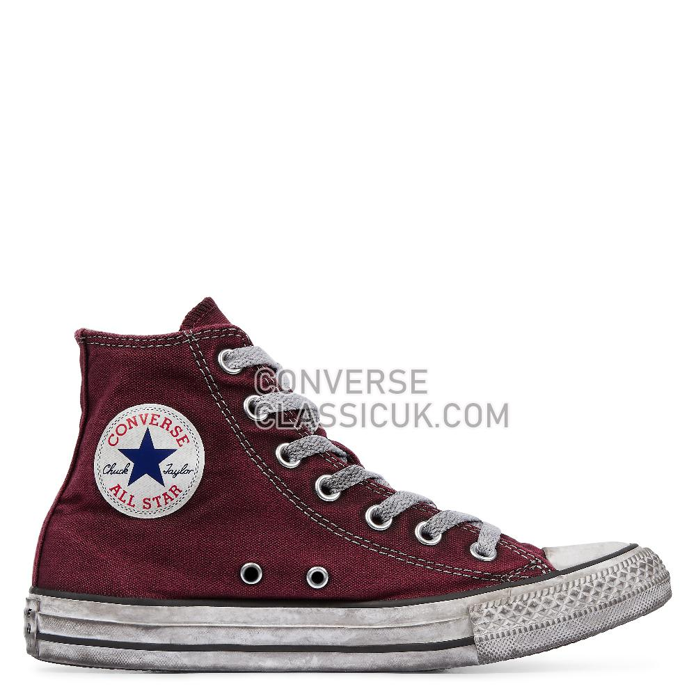 Converse Chuck Taylor All Star Canvas Smoke High Top Mens 160152C Maroon/Black/White Shoes