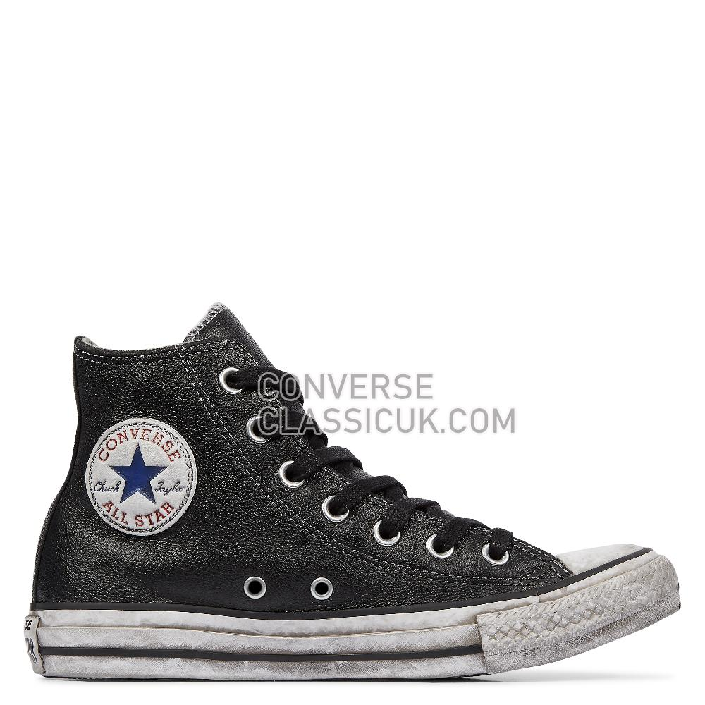 Converse Chuck Taylor All Star Vintage Leather Mens 158575C Black/White/Black Shoes