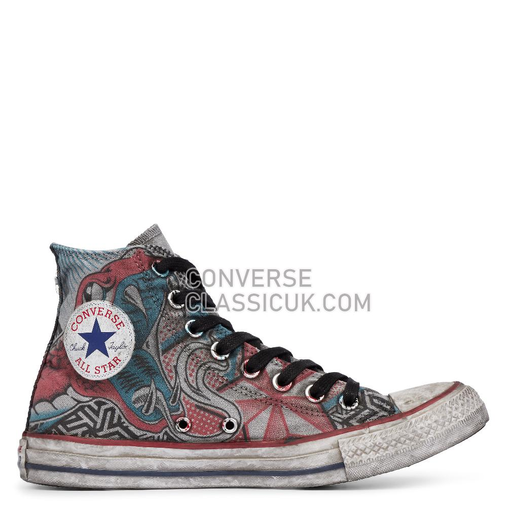 Converse Chuck Taylor All Star Snake Tattoo High Top Mens Womens Unisex 164519C Snake/Tattoo Shoes