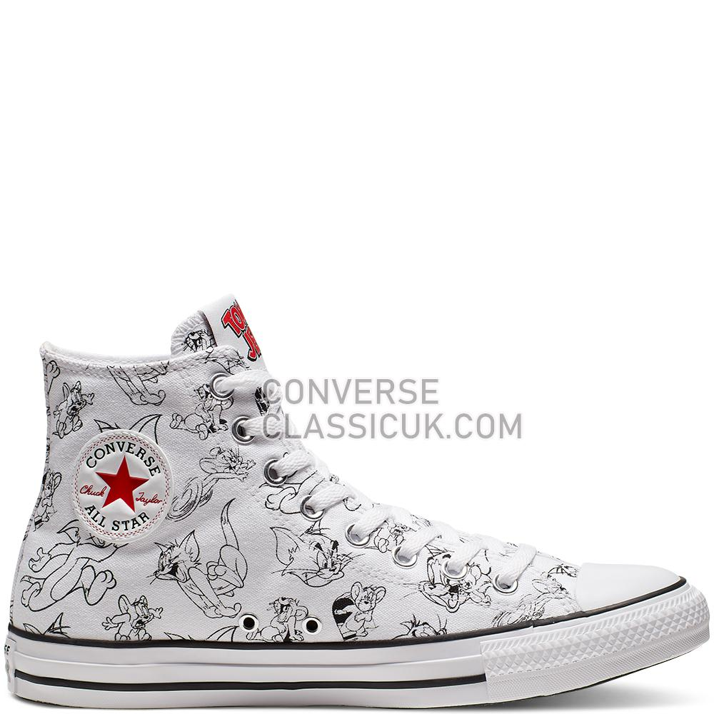 Converse Tom and Jerry Chuck Taylor All Star High Top Mens 165736C White/Multi/Red Shoes