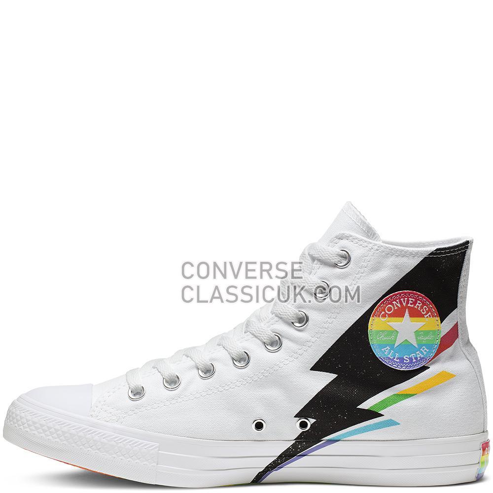 Converse Chuck Taylor All Star Pride High Top Mens 165715C White/Black/Multi Shoes