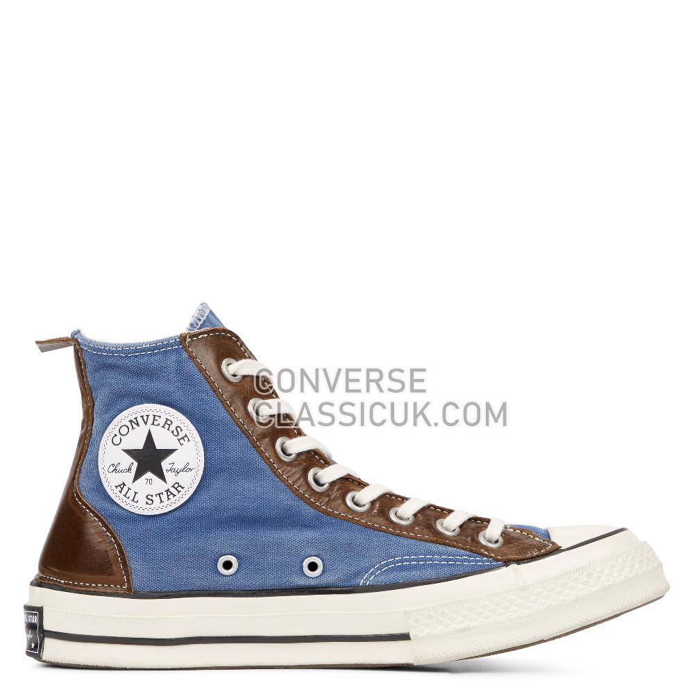 Converse Chuck 70 Vintage Leather High Top-Blue-All Star-Converse Mens 164679C Navy/Vintage/Leather/White Shoes