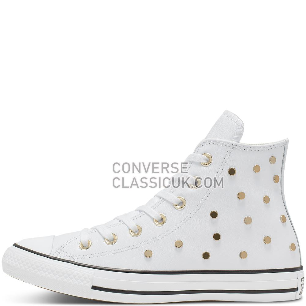 Converse Chuck Taylor All Star Studs High Top Mens 565848C White/Light/Gold/Black Shoes