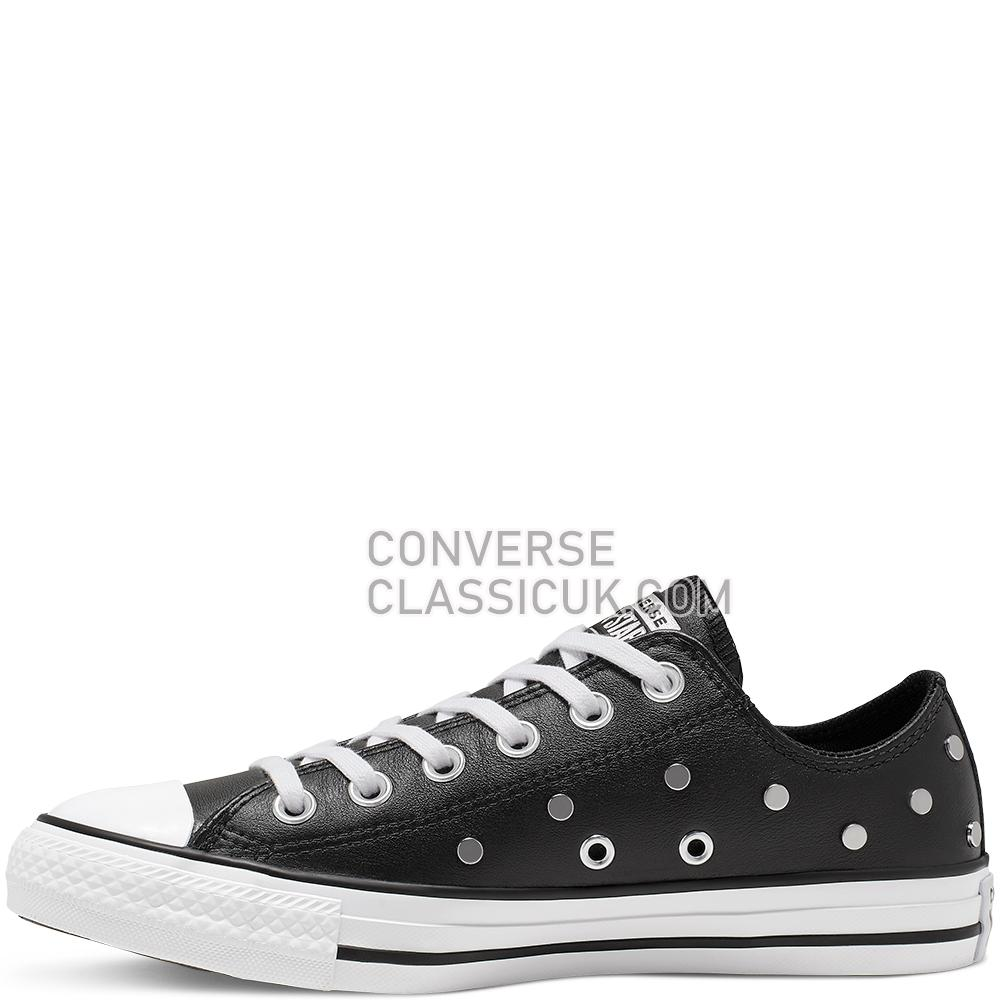 Converse Chuck Taylor All Star Studs Low Top Mens 565851C Black/Pure/Silver/White Shoes