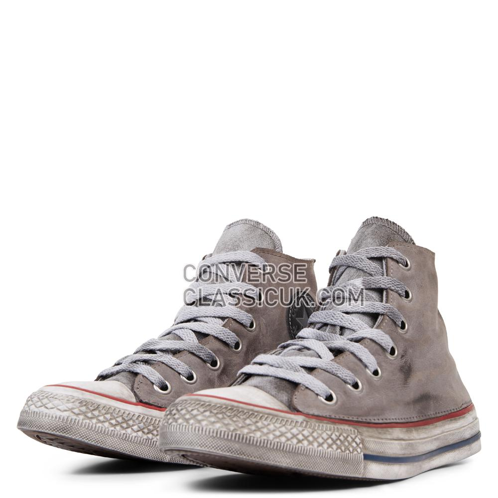 Converse Chuck Taylor All Star Premium Vintage Leather High Top Mens Womens Unisex 165775C Optical/White/Grey/Vintage Shoes
