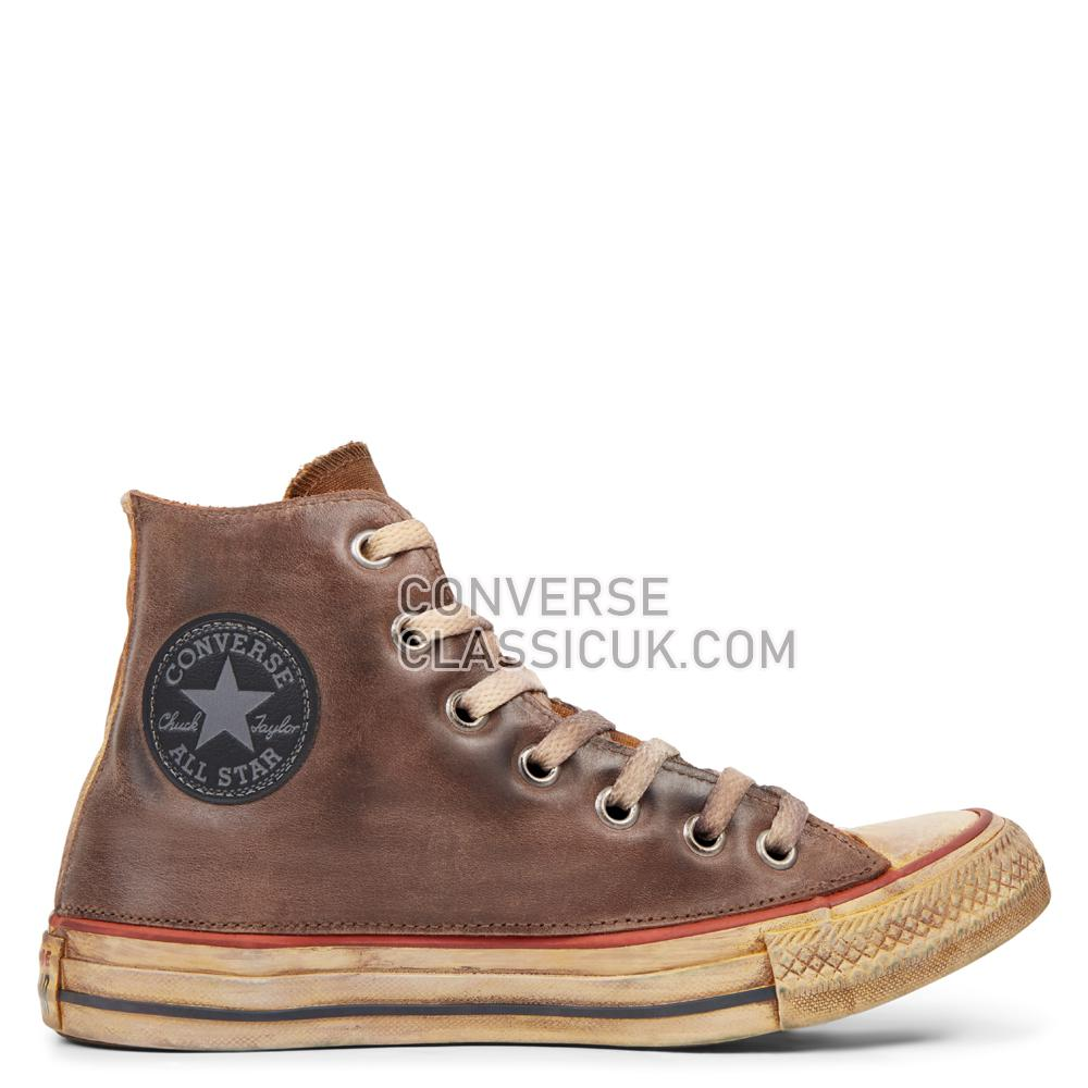 Converse Chuck Taylor All Star Premium Vintage Leather High Top Mens 165772C Optical/White/Brown/Vintage Shoes