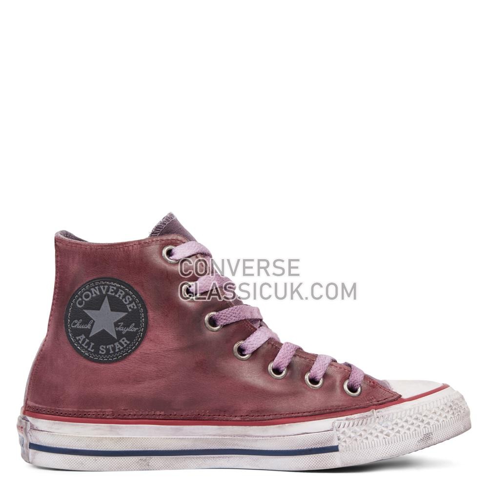 Converse Chuck Taylor All Star Premium Vintage Leather High Top Mens Womens Unisex 165774C Optical/White/Red/Vintage Shoes
