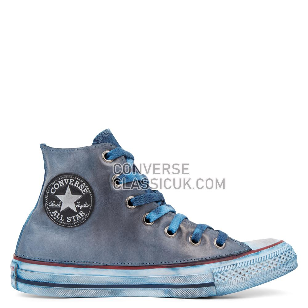 Converse Chuck Taylor All Star Premium Vintage Leather High Top Mens Womens Unisex 165773C Optical/White/Navy/Vintage Shoes