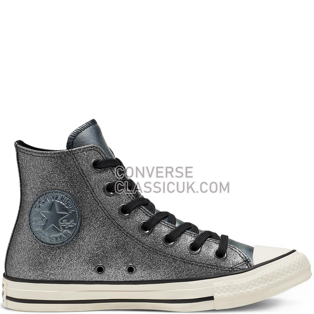 Converse CTAS Hi Black Glitter Multipanel IT SMU Mens 565823C Black/Egret/Black Shoes