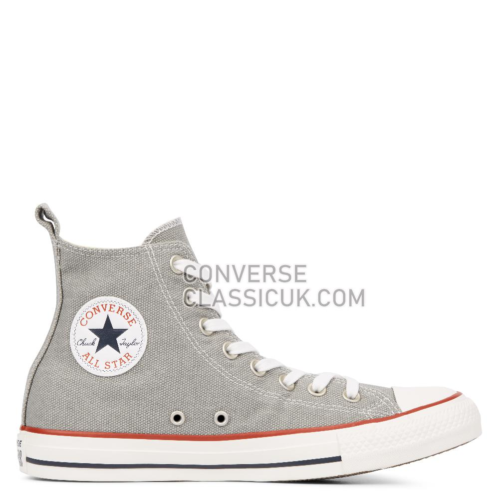 Converse Chuck Taylor All Star Washed Denim High Top Mens 164504C Dolphin/Dolphin/Vintage/White Shoes