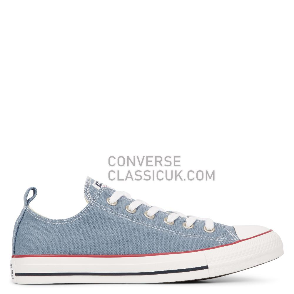 Converse Chuck Taylor All Star Washed Denim Low Top Mens Womens Unisex 164004C Wash/Denim/Vintage/White Shoes