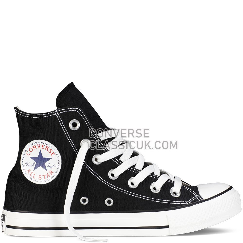 Converse Chuck Taylor All Star Classic Colours Black Mens Womens Unisex M9160C Black Shoes