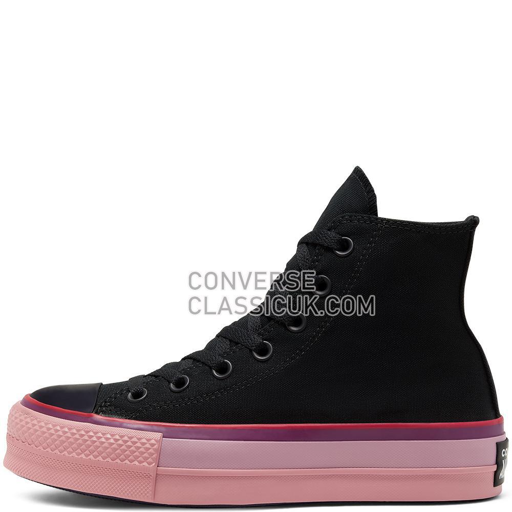 Converse x OPI Chuck Taylor All Star Platform High Top Womens 566556C Black//Multi Shoes