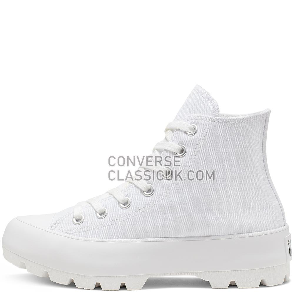 Converse Chuck Taylor All Star Lugged High Top Womens 565902C White/Black/White Shoes